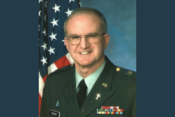 Dr. Buzby's father in his military uniform, photo